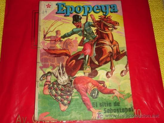 EPOPEYA N° 11 -EL SITIO DE SEBASTOPOL - (FOTOS ADICIONALES) NOVARO (Tebeos y Comics - Novaro - Epopeya)