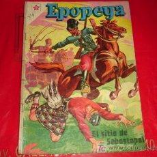 Tebeos: EPOPEYA N° 11 -EL SITIO DE SEBASTOPOL - (FOTOS ADICIONALES) NOVARO. Lote 116296510