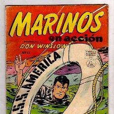 Tebeos: MARINOS EN ACCIÓN PRESENTA DON WINSLOW Nº 11 DE1956 - EDITORIAL LA PRENSA MEXICANA . Lote 23201466