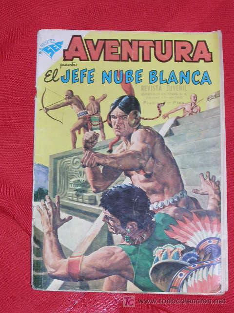 AVENTURA JEFE NUBE BLANCA Nº 104 AÑO 1959, ORIGINAL Y DIFICIL EDITORIAL NOVARO ORIGINAL Y DIFICIL (Tebeos y Comics - Novaro - Aventura)