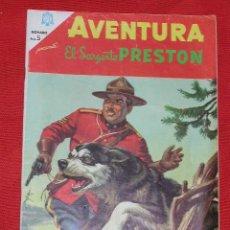 Tebeos: AVENTURA EL SARGENTO PRESTON - POLICIA MONTADA DEL CANADA - Nº 451 AÑO 1966, EDITORIAL NOVARO. Lote 27456046