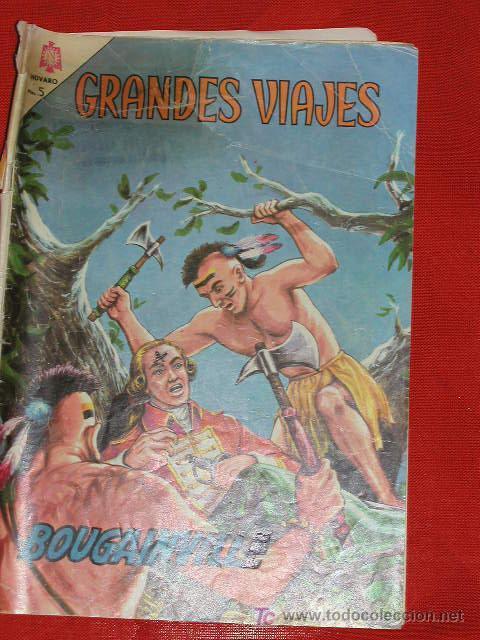 GRANDES VIAJES BOUGAINVILLE - Nº 27 AÑO 1965, ORIGINAL EDITORIAL NOVARO (Tebeos y Comics - Novaro - Grandes Viajes)