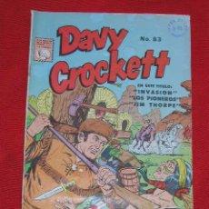Tebeos: DAVY CROCKETT - INVASION - Nº 83 AÑO 1963, ORIGINAL PUBLILIBROS LA PRENSA. Lote 27612277