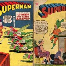 Tebeos: SUPERMAN NOVARO NºS 242,376,196 ,61,Y , 40 , ,244,Y 340 PROCEDEN RETAPADOS. SUELTOS CONSULTA CAJA 15. Lote 26594720