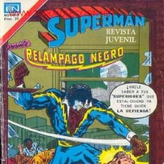 Tebeos: SUPERMAN. RELAMPAGO NEGRO NUMERO 2-1211 28/05/1979 . Lote 26473591