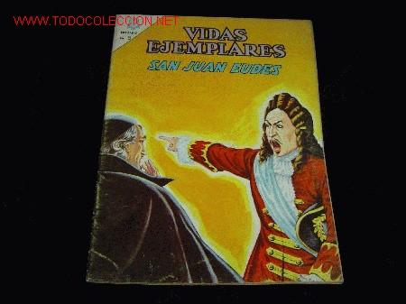 VIDAS EJEMPLARES.......SANJUAN EUDES......Nº202 (Tebeos y Comics - Novaro - Vidas ejemplares)