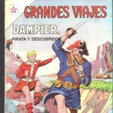 Tebeos: GRANDES VIAJES # 10 NOVARO 1963 DAMPIER, PIRATA Y DESCUBRIDOR MUY BUEN ESTADO. Lote 25821542