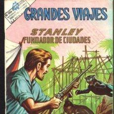 Tebeos: GRANDES VIAJES # 18 - STANLEY FUNDADOR DE CIUDADES- EDITORIAL NOVARO - AÑO 1964. Lote 27551043