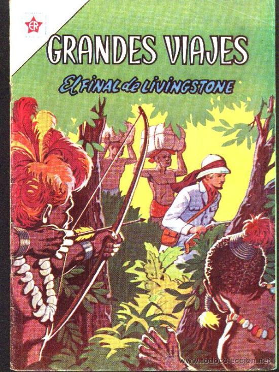GRANDES VIAJES # 9 EL FINAL DE LIVINGSTONE EDITORIAL NOVARO 1963 EXCELENTE ESTADO (Tebeos y Comics - Novaro - Grandes Viajes)