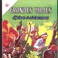 Tebeos: GRANDES VIAJES # 9 EL FINAL DE LIVINGSTONE EDITORIAL NOVARO 1963 EXCELENTE ESTADO. Lote 27298255