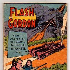 Tebeos: FLASH GORDON COLECCION DE BOLSILLO MUNDO INFANTIL Nº6 (1960). Lote 21268351