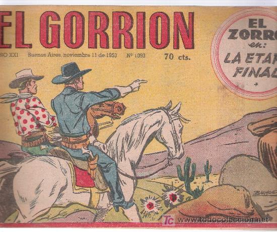 EL GORRIÓN. EDIT. LAINEZ. BUENOS AIRES. Nº 1093. AÑO 1953 (Tebeos y Comics - Novaro - Otros)