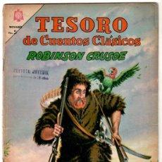 Tebeos: TESORO DE CUENTOS CLASICOS Nº 98, NOVARO 1965, ROBINSON CRUSOE. Lote 12415515