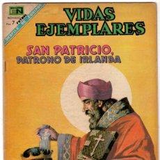 Tebeos: VIDAS EJEMPLARES Nº 263, NOVARO 1968, SAN PATRICIO PATRONO DE IRLANDA. Lote 151206014