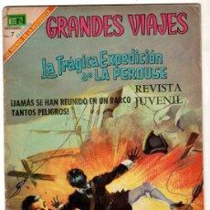 Tebeos: GRANDES VIAJES Nº 72, NOVARO 1969, LA TRAGICA EXPEDICION DE LA PEROUSE. Lote 12415709