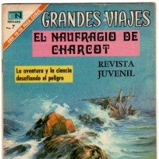 Tebeos: GRANDES VIAJES Nº 100, NOVARO 1971 EL NAUFRAGIO DE CHARCOT. Lote 12415720