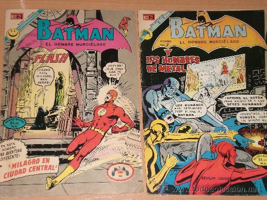 BATMAN, EL HOMBRE MURCIELAGO(DOS TEBEOS DE EDITORIAL NOVARO EDITADOS EN 1972 Y 1973) (Tebeos y Comics - Novaro - Batman)