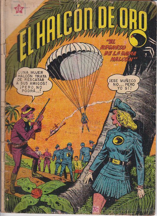 EL HALCON DE ORO -EL REGRESO DE LA DAMA HALCON- Nº 21 NOVARO 1959 (Tebeos y Comics - Novaro - Otros)