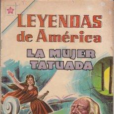 Tebeos: LEYENDAS DE AMERICA - LA MUJER TATUADA - Nº 81 NOVARO 1962. Lote 26567602