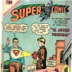 Tebeos: SUPERCOMIC # 40 NOVARO 1970 EL JOVEN PRODIGIO SUPERMAN MUY BUEN ESTADO. Lote 32449005