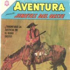 Tebeos: AVENTURA # 444 JINETES DEL OESTE NOVARO 1966 DETALLE EN TAPA BUEN ESTADO. Lote 25821538