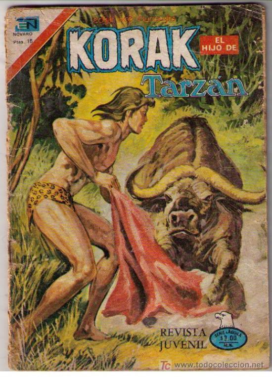 KORAK EL HIJO DE TARZÁN.SERIE AGUILA Nº 60. AÑO 1977 (Tebeos y Comics - Novaro - Tarzán)