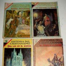 Tebeos: HISTORIAS DEL CRISTIANISMO LOTE DE 4 TEBEOS Nº 4, 16, 19, 1 - EDITORIAL NOVARO - NOVARO - OPORTUNIDA. Lote 15087137