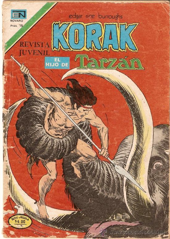 KORAK EL HIJO DE TARZAN - SERIE AGUILA - AÑO VI - Nº 2-64 - 1977 (Tebeos y Comics - Novaro - Tarzán)