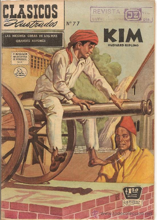 CLASICOS ILUSTRADOS Nº 77 KIM DE LA INDIA EDITORIAL SOL (Tebeos y Comics - Novaro - Otros)