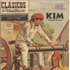 Tebeos: CLASICOS ILUSTRADOS Nº 77 KIM DE LA INDIA EDITORIAL SOL. Lote 26394738