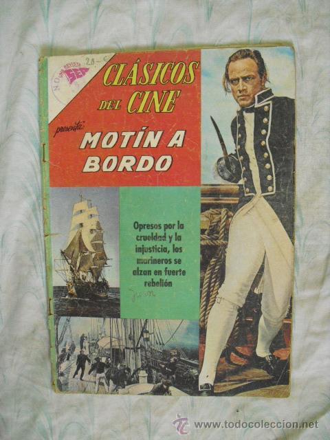 CLASICOS DEL CINE,MOTIN ABORDO Nº 94-1963 (Tebeos y Comics - Novaro - Otros)