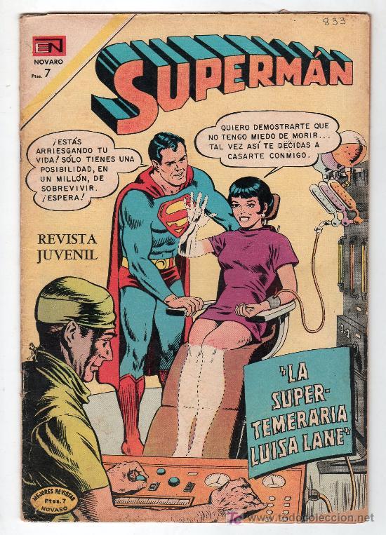 SUPERMAN. EDITORIAL NOVARO AÑO XX. Nº 833. 3 NOVIEMBRE 1971 (Tebeos y Comics - Novaro - Superman)