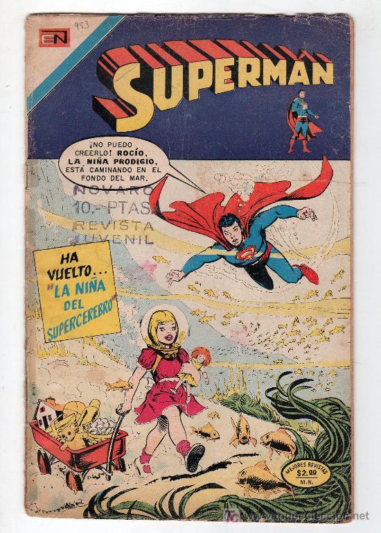 SUPERMAN. EDITORIAL NOVARO AÑO XXII. Nº 953. 27 FEBRERO 1974 (Tebeos y Comics - Novaro - Superman)
