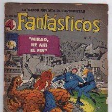 Tebeos: LOS 4 FANTASTICOS Nº 70 - LA PRENSA MEXICANA - FANTASTIC FOUR. Lote 18878499