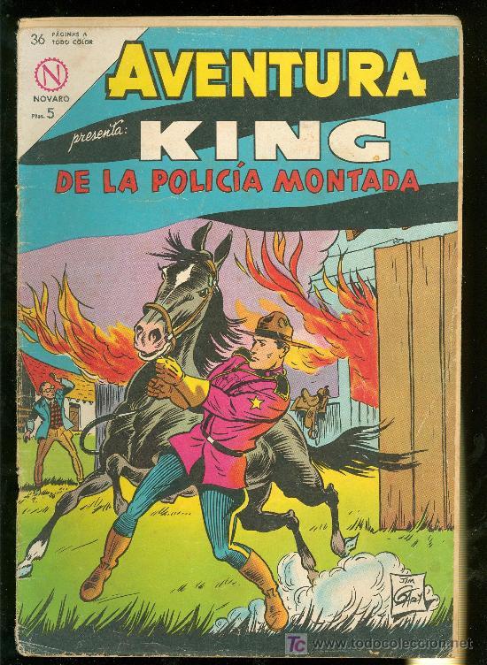 AVENTURA. KING DE LA POLICIA MONTADA. Nº 321. (Tebeos y Comics - Novaro - Otros)