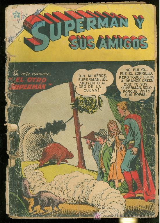 SUPERMAN Y SUS AMIGOS Nº 19. NOVARO. 1957. MUY RARO. (Tebeos y Comics - Novaro - Superman)