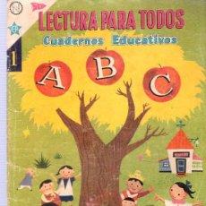 Tebeos: LECTURA PARA TODOS. CUADERNOS EDUCATIVOS. Nº 1. 1959. NOVARO. . Lote 26114129