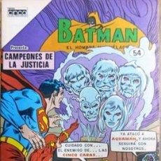 Tebeos: BATMAN # 54 - CAMPEONES DE LA JUSTICIA - EDITORIAL CINCO COLOMBIA - AÑO 1985 - JOYA DE COLECCION. Lote 21889642