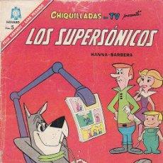 Tebeos: CHIQUILLADAS EN TV: LOS SUPERSÓNICOS Nº 196, AÑO 1966. Lote 22209696