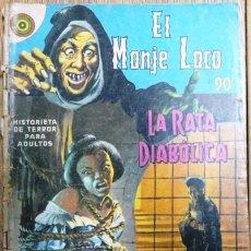Tebeos: EL MONJE LOCO # 90 - LA RATA DIABOLICA - EDITORIAL NOVARO - AÑO 1969 - DE COLECCION. Lote 27159506