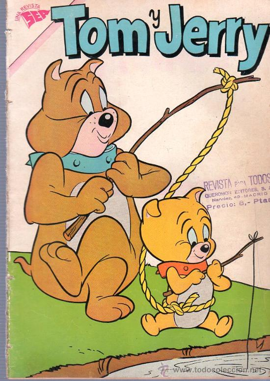 TEBEO. COMIC. TOM Y JERRY. NOVARO. AÑO XI. Nº 185. 1962. (Tebeos y Comics - Novaro - Tom y Jerry)