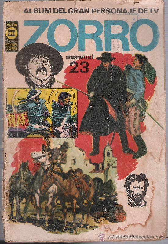 ZORRO ALBUM Nº 23. EDITORIAL TUCUMAN -ARGENTINA 1962. (Tebeos y Comics - Novaro - Aventura)