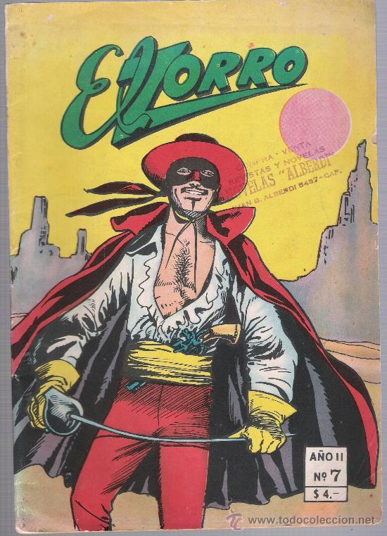 EL ZORRO Nº 7. EDITORIAL ERRECE - BUENOS AIRES. (68 PÁGINAS) (Tebeos y Comics - Novaro - Aventura)