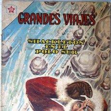 Tebeos: GRANDES VIAJES # 1 SHACKLETON EN EL POLO SUR EDITORIAL NOVARO 1963 BUEN ESTADO. Lote 25540755
