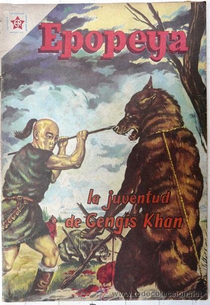 EPOPEYA # 22 LA JUVENTUD DE GENGIS KHAN NOVARO 1960 MUY BUEN ESTADO (Tebeos y Comics - Novaro - Epopeya)