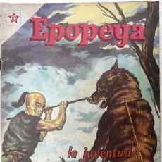 Tebeos: EPOPEYA # 22 LA JUVENTUD DE GENGIS KHAN NOVARO 1960 MUY BUEN ESTADO. Lote 27135658