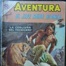 Tebeos: AVENTURA # 334 EL JEFE NUBE BLANCA NOVARO 1964 CON DETALLES. Lote 157767080
