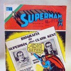 Tebeos: COMIC, SUPERMAN, BIOGRAFIA, AÑO XXIV, Nº 1013, 1975, NOVARO. Lote 28590727