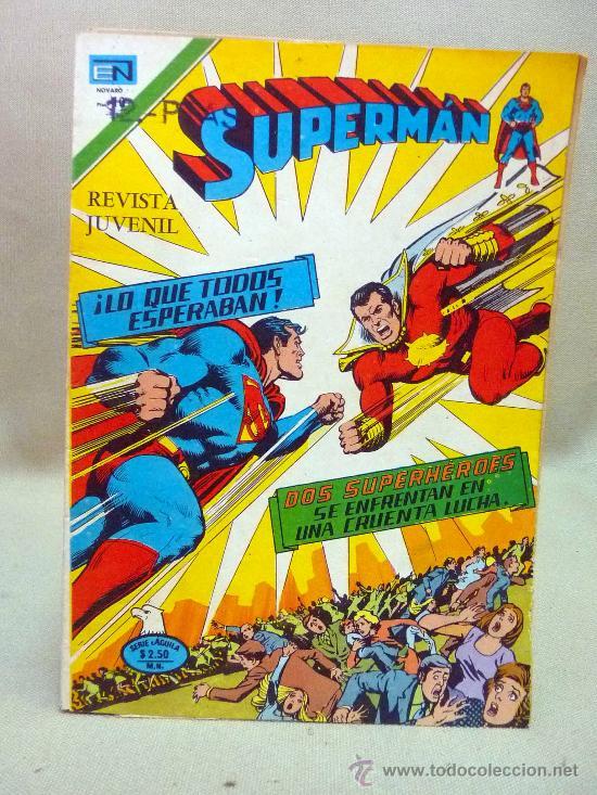 COMIC, SUPERMAN, LO QUE TODOS ESPERABAN , AÑO XXIV, Nº 1046, 1976, NOVARO (Tebeos y Comics - Novaro - Superman)