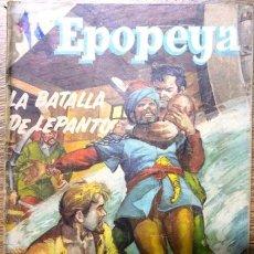 Tebeos: EPOPEYA # 2 NOVARO 1958 LA BATALLA DE LEPANTO, ENCUENTRO INMORTAL. Lote 28918206